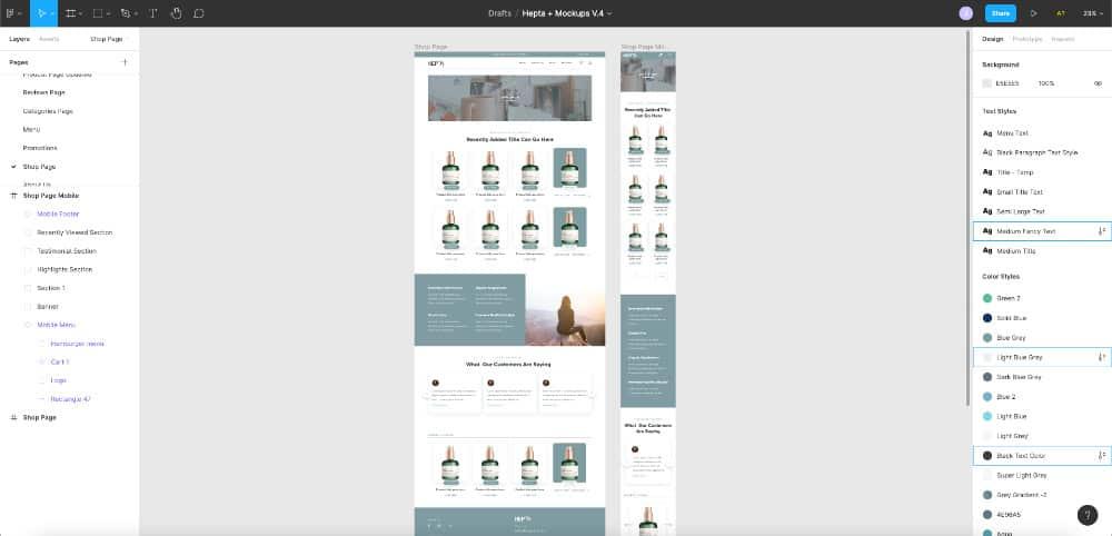 Hepta Mockup Design